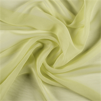 Light Lime Crinkled Silk Chiffon