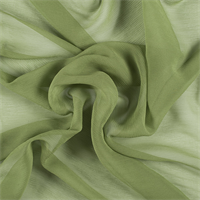 Apple Green Crinkled Silk Chiffon