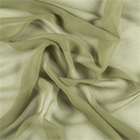 Grass Green Crinkled Silk Chiffon