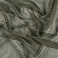 Olive Green Silk Double Georgette