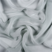 Pale Blue Crinkled Silk Chiffon