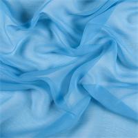 Turquoise Crinkled Silk Chiffon