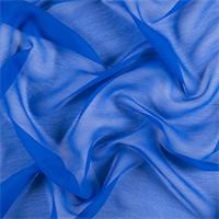 Sapphire Blue Crinkled Silk Chiffon