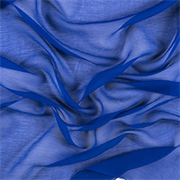 Blue Silk Double Georgette
