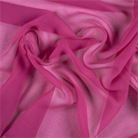 Fuschia Silk Double Georgette