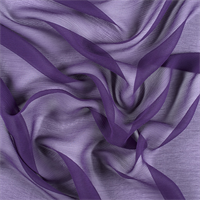 Purple Crinkled Silk Chiffon