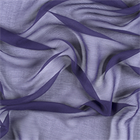 Dark Purple Crinkled Silk Chiffon