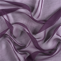 Eggplant Silk Double Georgette