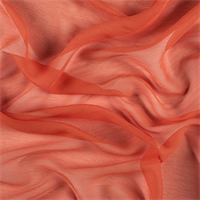 Orange Crinkled Silk Chiffon