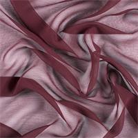 Wine Crinkled Silk Chiffon