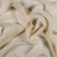 Gold Crinkled Silk Chiffon