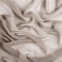 Taupe Silk Double Georgette