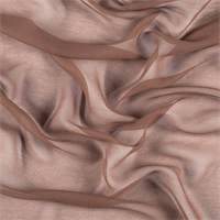 Brown Crinkled Silk Chiffon