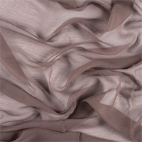 Dark Taupe Silk Double Georgette