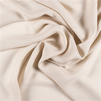 Beige Silk Double Georgette