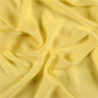 Bright Yellow Silk Double Georgette