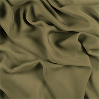 Moss Green Silk Double Georgette