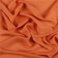 Orange Silk Double Georgette