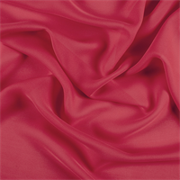 Bright Red Silk Double Georgette