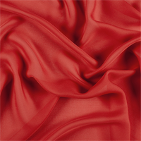 Red Silk Double Georgette