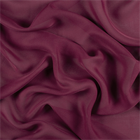 Burgundy Silk Double Georgette