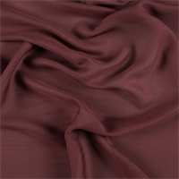 Dark Brick Red Silk Double Georgette