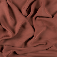 Rust Silk Double Georgette