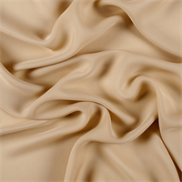 Golden Tan Silk Double Georgette