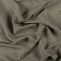Dark Olive Silk Double Georgette
