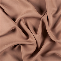 Brown Silk Double Georgette