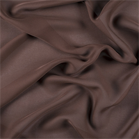Dark Brown Silk Double Georgette