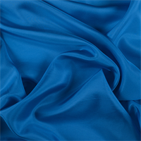 Bright Blue Silk Habotai