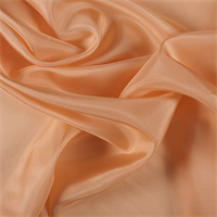 Light Orange Silk Habotai