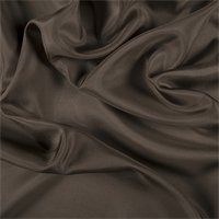 Olive Brown Silk Habotai