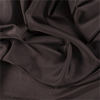 Dark Brown Silk Habotai