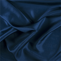 Midnight Navy Silk Habotai