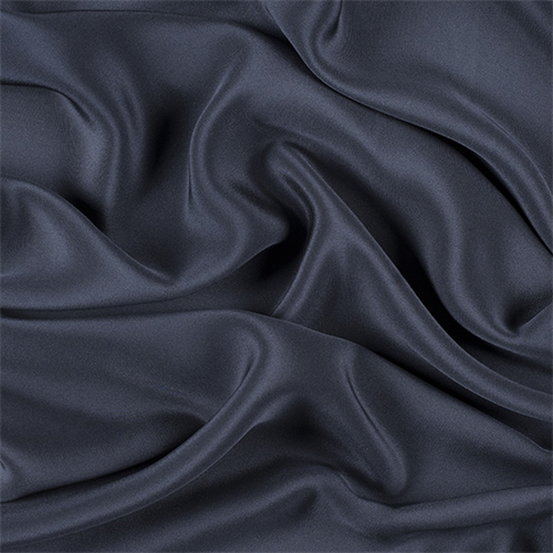 Navy Blue 4 Ply Silk Crepe 7000m194 Fashion Fabrics