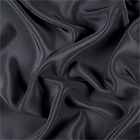 Black 4 Ply Silk Crepe