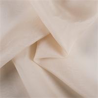 Beige Silk Organza