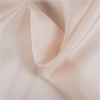 Pale Peach Silk Organza