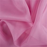 Carnation Pink Silk Organza