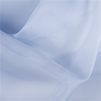 Steel Blue Silk Organza
