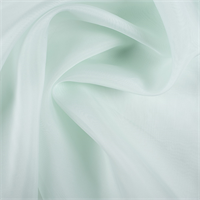 Pale Mint Silk Organza