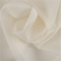 Pale Yellow Silk Organza