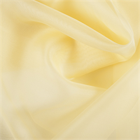 Yellow Silk Organza