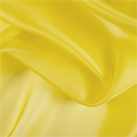 Bright Yellow Silk Organza