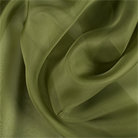 Grass Green Silk Organza