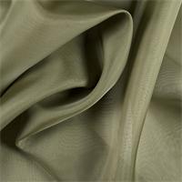 Olive Green Silk Organza