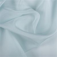 Pale Blue Silk Organza