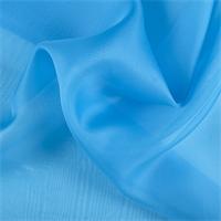 Turquoise Silk Organza